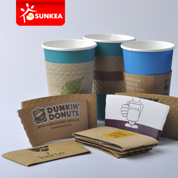Custom Brand Printed Paper Coffee Cup Jackets