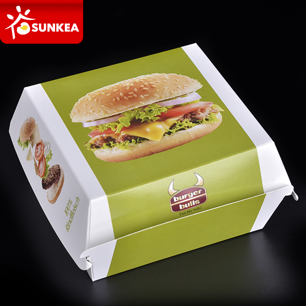 Custom Made Printed Paper Burger Box
