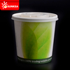 Biodegradable PLA lined disposable paper soup cup with PLA lid