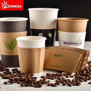 Disposable Kraft Paper Coffee Cup Wraps