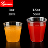 1oz 1.5oz PS plastic tasting / shot cup, airline cup