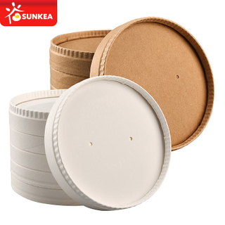 Stackable Paper Soup Bowl Soup Cup Paper Lid