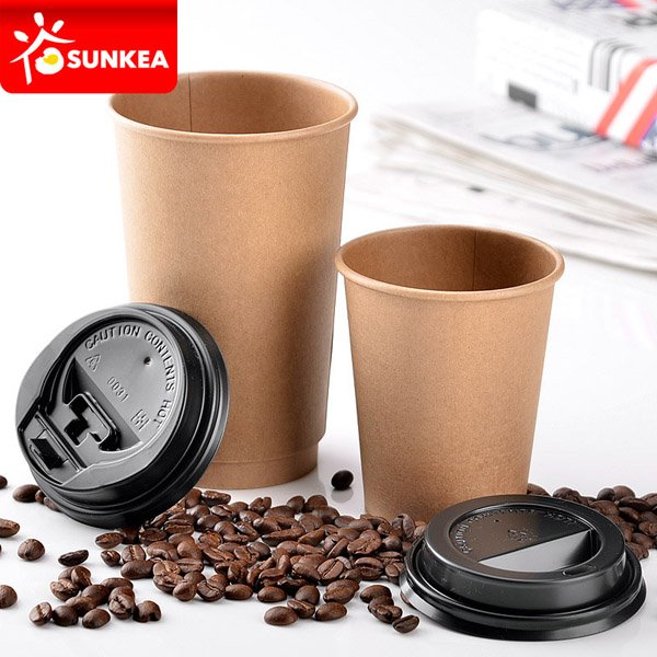 Single wall pure kraft coffee paper cup