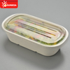 Compostable ecofriendly ecosource leakproof bento lunch box