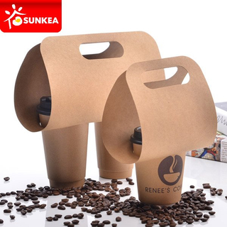 1 Pack 2 Pack Wrapped Handle Cup Carriers