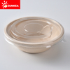 Compostable bamboo fiber bowl bamboo fibre pulp packaging