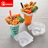 Disposable PS plastic cup top snack tray