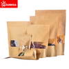 Brown Kraft Paper Stand up Pouch with Window