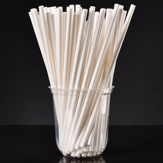 Compostable biodegradable eco friendly white paper drinking straws