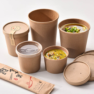 Sunkea Disposable Paper Hot Soup Tub For Food Packaging
