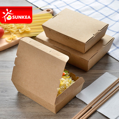 Custom made kraft paper lunch box for food
