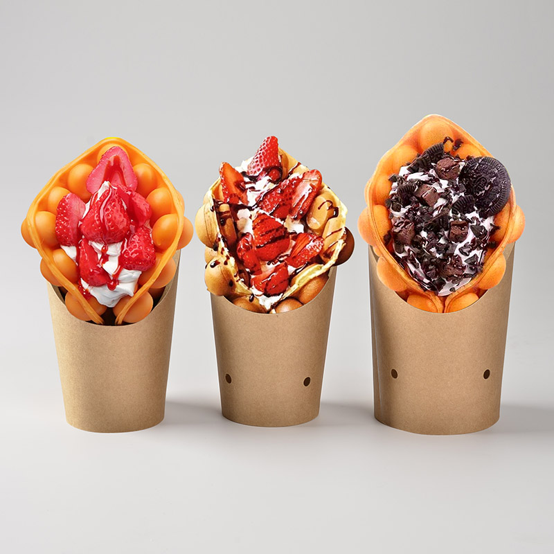Custom Printed Hot Chip Cups, Paper Tortilla Egg Puff Cup