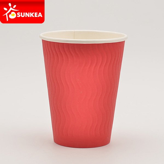S ripple surface double wall coffee paper cup